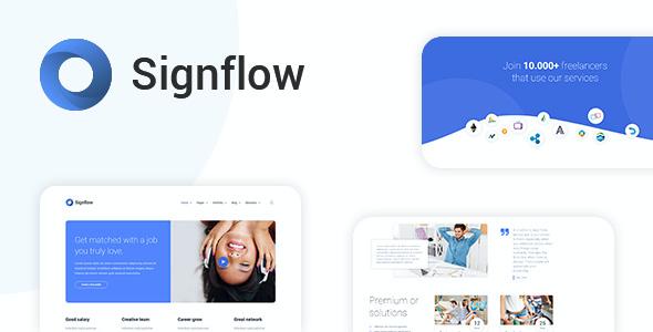 Test du thème WordPress Signflow , découvrez notre avis
