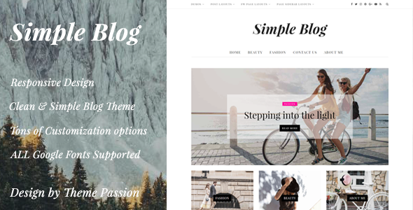 test Simple Blog - Clean Responsive WordPress Blog Theme