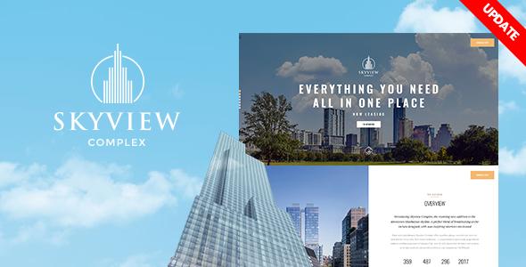 Test du thème WordPress Skyview Complex , voici notre avis