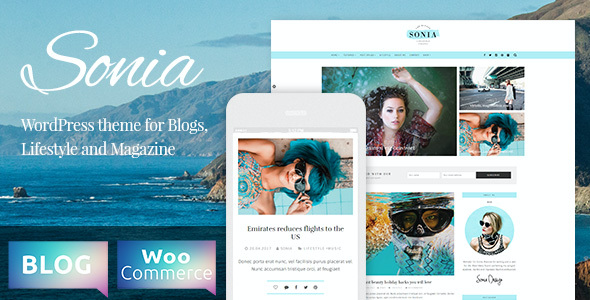 test Sonia - A Responsive WordPress Blog and Shop Theme