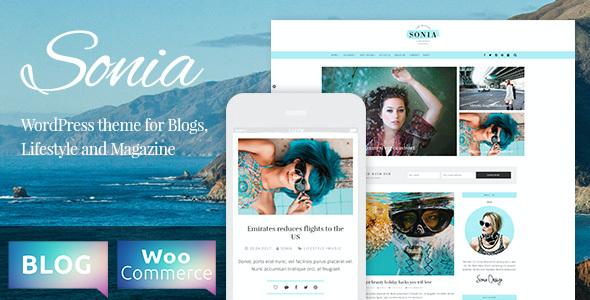 Test du thème WordPress Sonia , voici notre avis