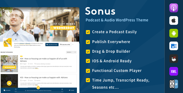 test Sonus - Podcast & Audio WordPress Theme