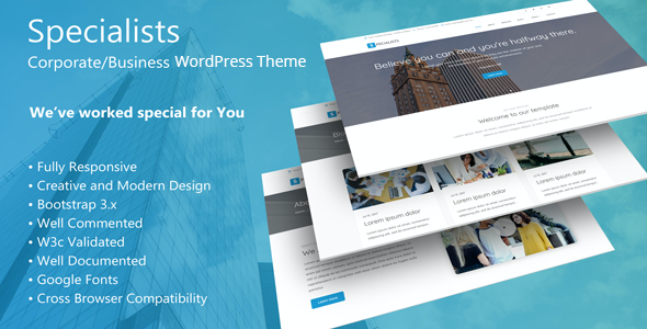 test Specialists - Corporate/Business WordPress Theme