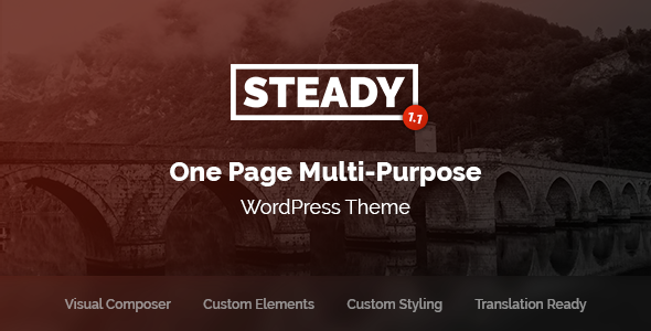 test Steady - One Page Multi-Purpose WordPress Theme
