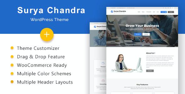Test du thème WordPress Surya Chandra , découvrez notre avis
