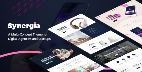 test Synergia - A Multi-Concept Theme for Digital Agencies and Startups