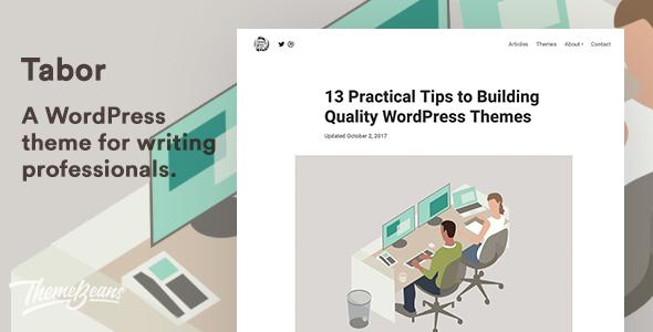 Test du thème WordPress Tabor , voici notre avis