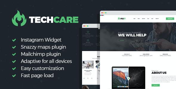 Test du thème WordPress TechCare , découvrez notre avis
