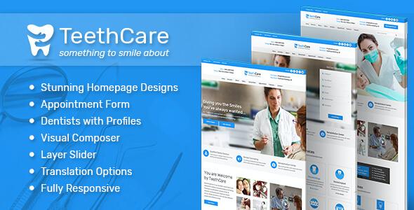 Test du thème WordPress Teeth Care , voici notre avis
