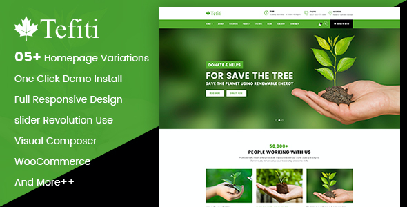 test Tefiti- Environmental Ecology Responsive WordPress Theme