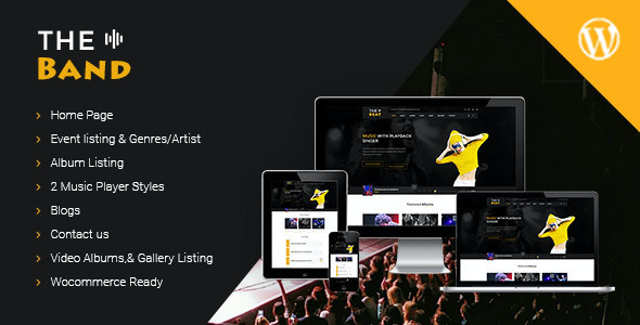 test TheBand Music Bands WordPress Theme