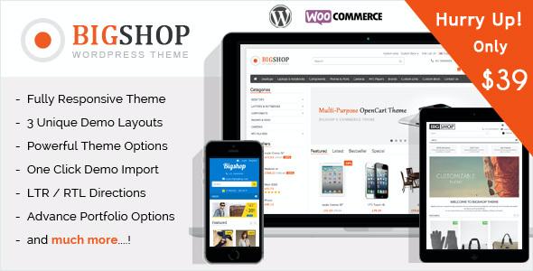 Test du thème WordPress The Bigshop , découvrez notre avis
