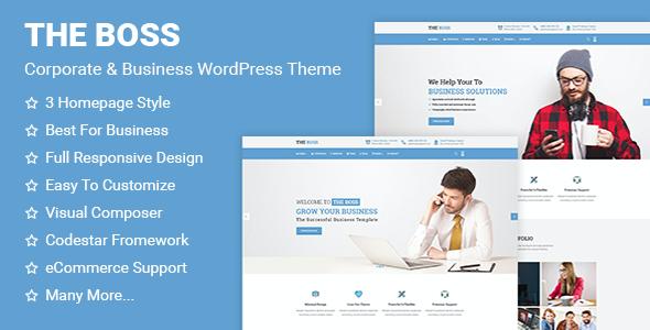 Test du thème WordPress The Boss , voici notre avis