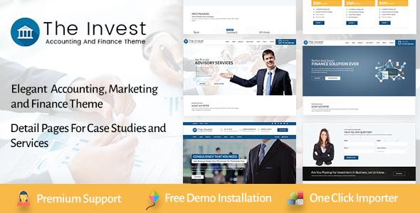 Test du thème WordPress The Invest , voici notre avis