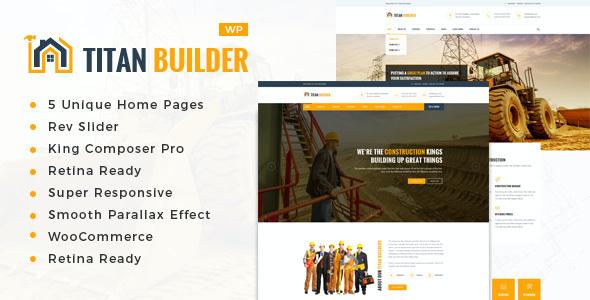 Test du thème WordPress Titan Builders , voici notre avis
