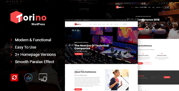 Test du thème WordPress Torino Conference and Event WordPress Theme , voici notre avis