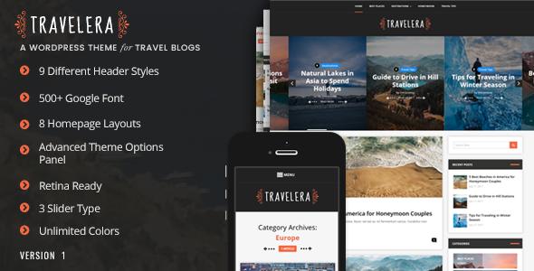 Test du thème WordPress Travelera , voici notre avis