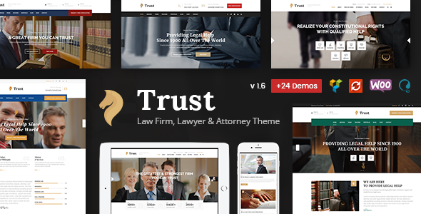 test Trust Business - Lawyer and Attorney WordPress Theme