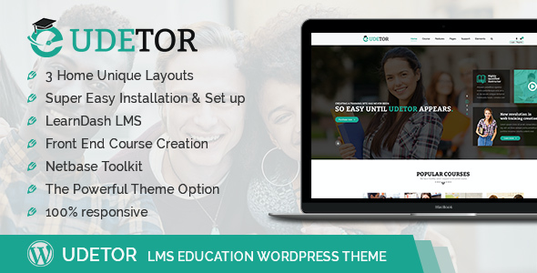 test Udetor - LMS Education WordPress Theme