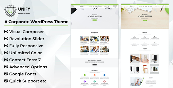 test Unify- Corporate WordPress Theme