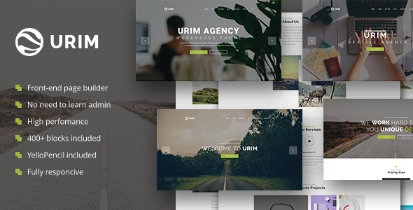 test Urim - Creative Agency WordPress Theme
