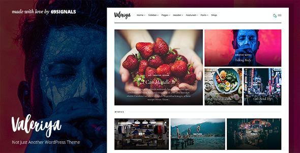 Test du thème WordPress Valeriya , voici notre avis