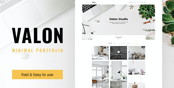 test Valon - Minimal Portfolio WordPress Theme