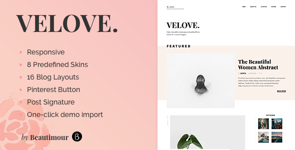 Test du thème WordPress Velove , voici notre avis