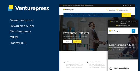 Test du thème WordPress VenturePress , voici notre avis