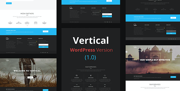 test Vertical- One Page Multipurpose WordPress Theme