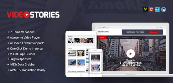 Test du thème WordPress VideoStories , voici notre avis