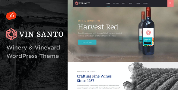 test Vin Santo - Winery & Vineyard Theme