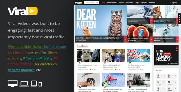 Test du thème WordPress ViralVideo , découvrez notre avis