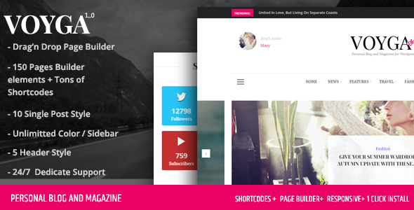 test Voyga - Personal Blog and Magazine Responsive WordPress Theme