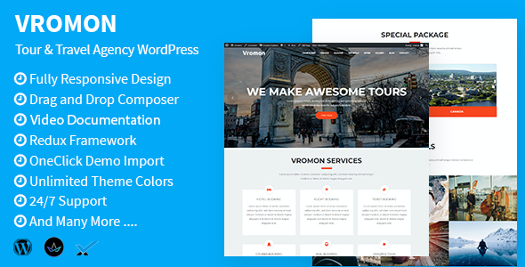 test Vromon - Tour & Travel Agency WordPress Theme