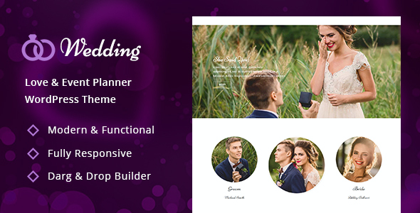 Test du thème WordPress Wedding , découvrez notre avis
