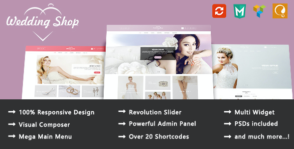 test Wedding Shop - Love Paradise Responsive WooCommerce WordPress Theme