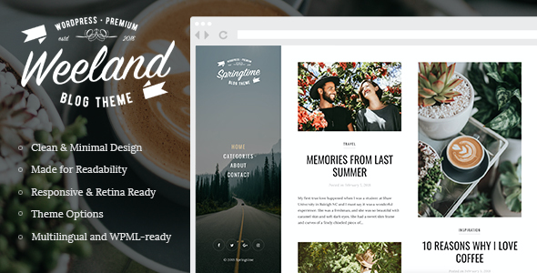 Test du thème WordPress Weeland , découvrez notre avis
