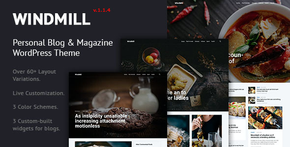 test WindMill - Personal Blog & Magazine WordPress Theme