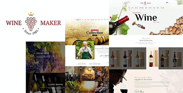 Test du thème WordPress Wine Maker , voici notre avis