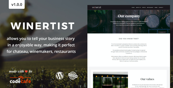 test Winerist - A Stunning Winery WordPress Theme