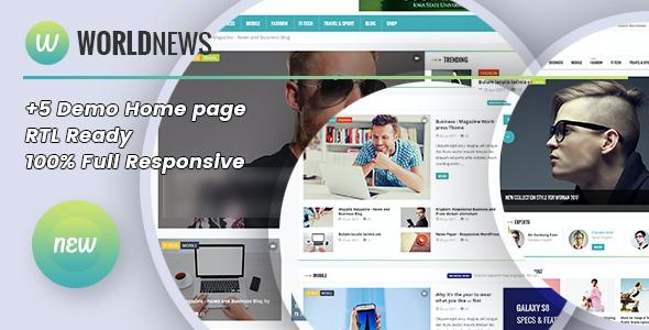 Test du thème WordPress WorldNews , voici notre avis