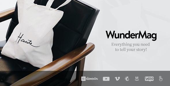 Test du thème WordPress WunderMag , découvrez notre avis