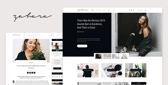test Zahara - A WordPress Blog & Shop Theme