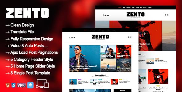 Test du thème WordPress Zento , découvrez notre avis
