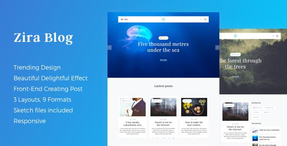 Test du thème WordPress Zira , voici notre avis
