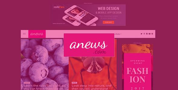Test du thème WordPress aNews , découvrez notre avis