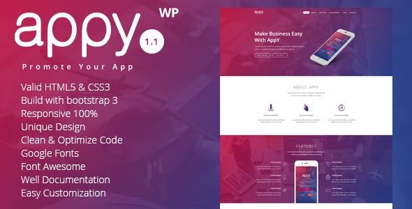 Test du thème WordPress appy , voici notre avis