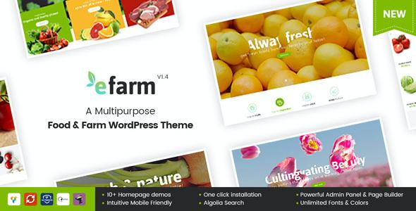 Test du thème WordPress eFarm , voici notre avis