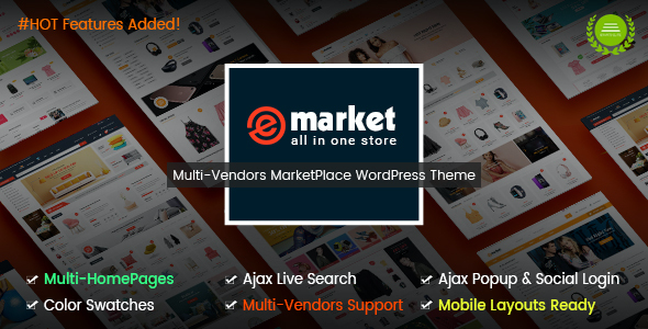 test eMarket - The eCommerce & Multi-purpose MarketPlace WordPress Theme (Mobile Layouts Included)
